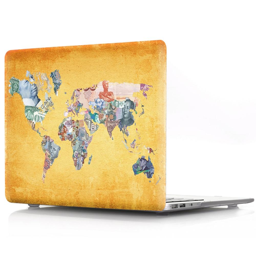 Viviration красочные карты дизайн жесткий защитный чехол, ПВХ оболочка держатель чехол для ноутбука чехол для Macbook Air 11 13 Pro 12 13 15,4 жесткий диск-in Сумки и чехлы для ноутбука from Компьютер и офис
