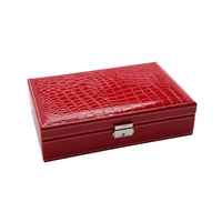 New High grade PU Leather Box Ripple Design Earring Rings Necklace Storage Box For Jewelry Packaging Porte Bijoux Organizador