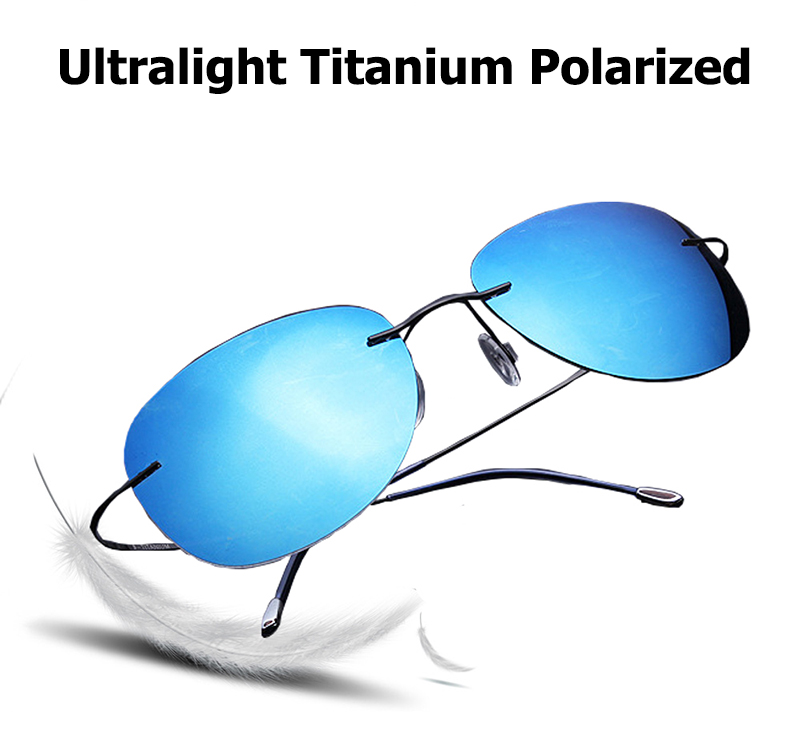 f1f593fe70 JackJad 2017 Fashion Men Driving Ultralight Titanium Polarized Sunglasses  Brand Design Rimless Aviator Sun Glasses Oculos De Sol