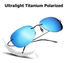 JackJad 2017 Fashion Men Driving Ultralight Titanium Polarized Sunglasses Brand Design Rimless Aviator Sun Glasses Oculos De Sol