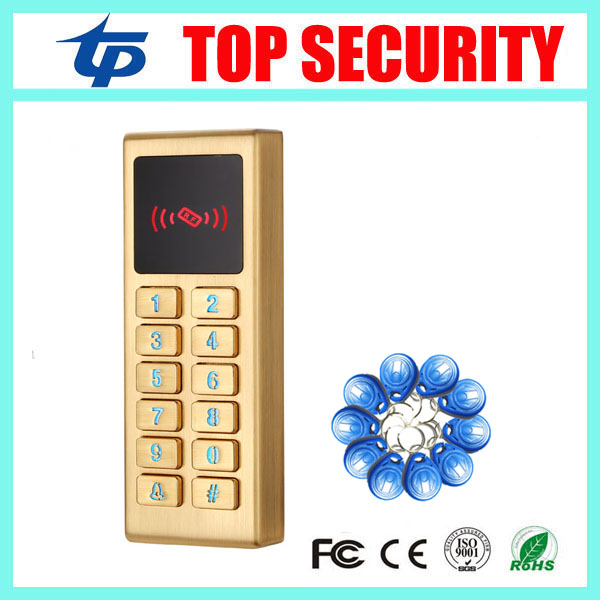ID card access controller waterproof surface metal RFID card door access control reader single standalone access control reader outdoor mf 13 56mhz weigand 26 door access control rfid card reader with two led lights