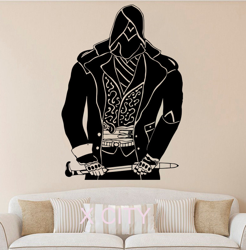 assassin wall sticker cool room decal vinyl art game poster american