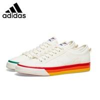 Adidas Nizza Pride Woman Skateboarding Shoes Anti slip Breathable Sports Sneakers EF2319