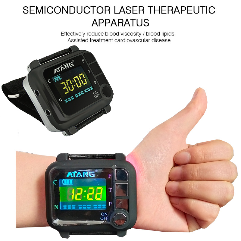 Rhinitis Sinusitis Medical Wrist Watch Blood Pressure Therapy Cold Laser Blood Flow Clean Trash Laser Therapeutic Acupuncture in Massage Relaxation from Beauty Health