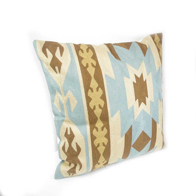 Handmade Kilim Natural Handmade Wool Decorative European Luxury Cushion Square Pillow Cover Cushion Case Toss Pillow