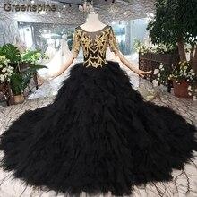 Zwarte Trouwjurk Te Koop.Oothandel Wedding Gown Gold Black Gallerij Koop Goedkope Wedding