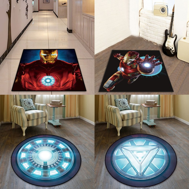 NEW Round Carpet Batman Superman Printed Soft Carpets Anti-slip Rugs Superhero Computer Chair Mat Floor Mat for Home Kids Room