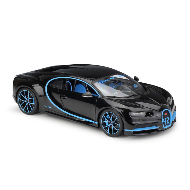 Bburago 1:18 Bugatti Chiron Black Diecast Model Racing Car Vehicle New in Box каталог bburago