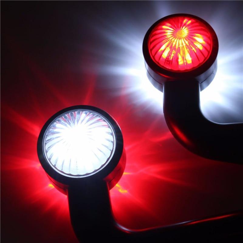 1 Pair 12 LED Elbow Side Marker Light Indicator Lamp 12V 24V Truck Trailer Caravan Tail Light in Car Light Assembly from Automobiles Motorcycles