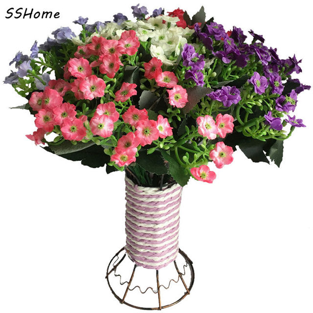 Orchid Silk Flowers For Home Decorations Small Purple White Pink