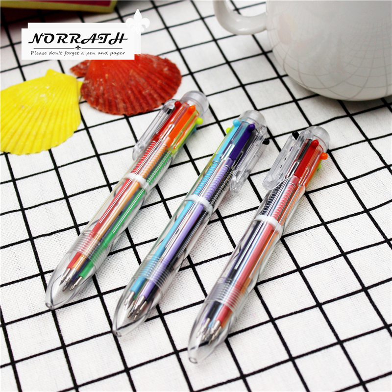 NORRATH Lovely Kawaii Multicolor Ballpoint Pen Multifunction Ballpen Cute Gift Stationery Office School Supplies