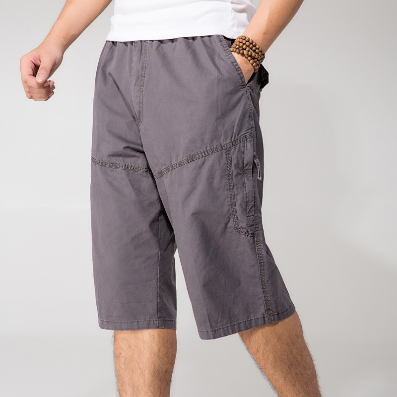 Xl-6Xl Plus Size Thin Casual Short-Pants Summer Man Shorts Army Multi-Pockets Loose Elastic Waist Cargo Short Man A3372