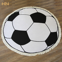 Tapestry Beach Towels Bath Towel Shawl Balls Printing Cotton Round Tassel Fringed Blanket Carpet Mat Travel