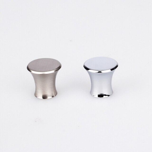 Hot Sale 8pcs Drawbench Drawer Knobs Small Chrome Simple Dresser Handles  Decoration Closet Knob Armoire Cupboard