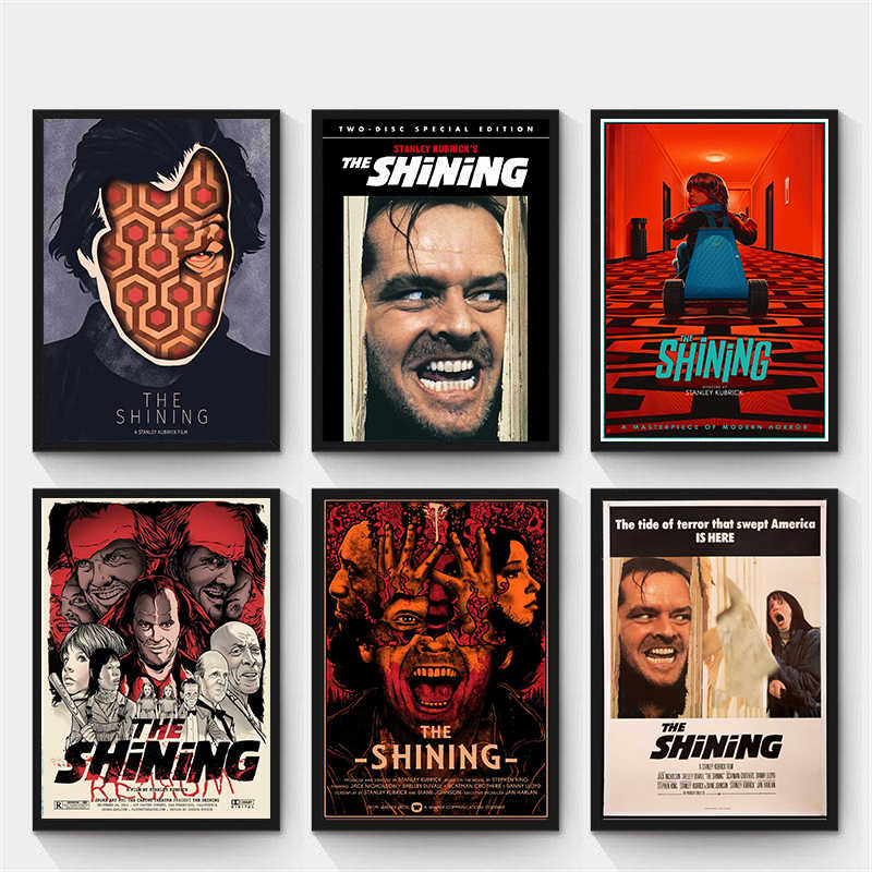 the shining stanley kubrick classic horror movie wall art painting print white kraft paper poster home decoration gift