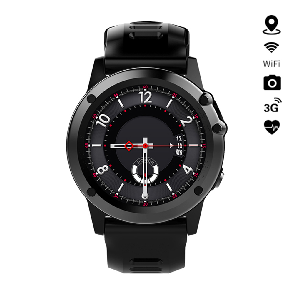 H1 Smart Watch Android MTK6572 IP68 Waterproof Support 3G Wifi GPS SmartWatch Phone Call SIM Camera