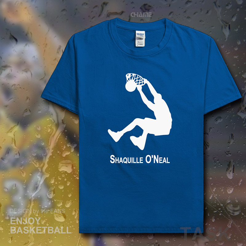 huge selection of 865ec 9ab18 US $5.99 |Shaquille ONeal t shirt men USA basketballer star Lakers jerseys  cotton fitness t shirt Shaq clothes streetwear tracksuit tees-in T-Shirts  ...