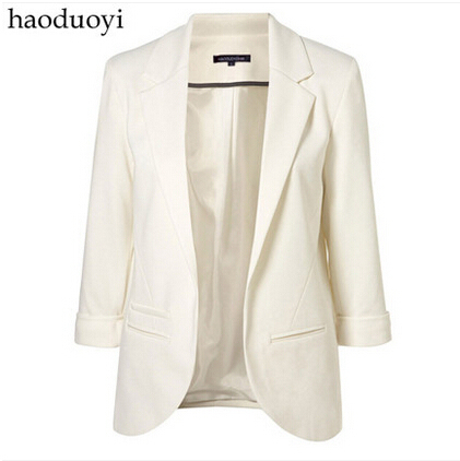 Brand 2017 Top Sales fahion blazer Candy Color women None button basic jacket suit overcoat Foldable outerwear coats jackets