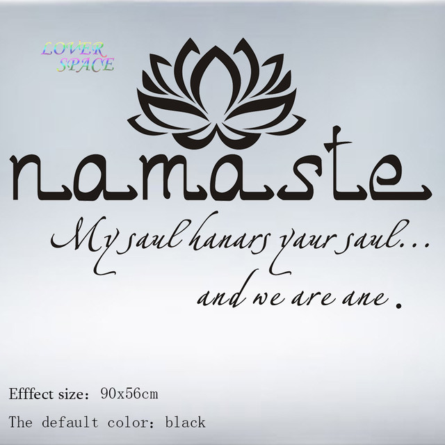Wall decals quotes vinyl sticker decal buddha quote namaste yoga mandala wall stickers for living rooms