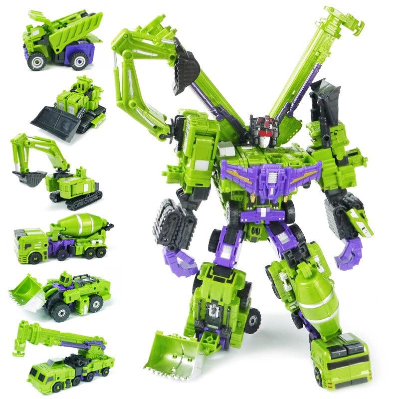 Jinbao 특대 42 cm devastator 변환 클래식 장난감 소년 성인 액션 피규어 ko gt 로봇 모델 애니메이션 엔지니어링 차량-에서액션 & 장난감 숫자부터 완구 & 취미 의  그룹 1