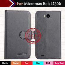 цена на Factory Direct! Micromax Bolt D306 Case 6 Colors Ultra-thin Leather Exclusive 100% Special Phone Cover Cases+Tracking