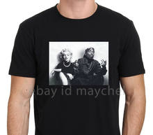 2019 Fashion Legend Marlyn And Tupac Fantasy Poster Men'S Black T-Shirt Size S-3Xl Tees(China)