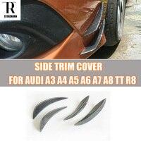Carbon Fiber Front Bumper Side Canards Splitter Spoiler for AUDI A3 A4 A5 A6 A7 A8 TT R8
