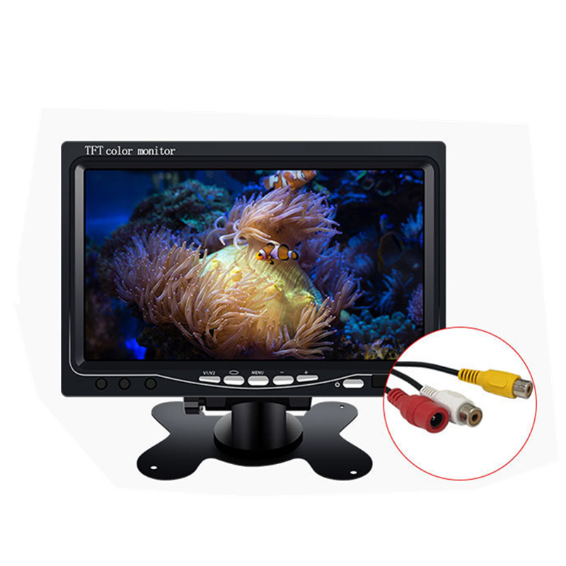 7 zoll desktop-monitor LCD 2ch video eingang DC 12 V rückkehr kopfstütze monitor