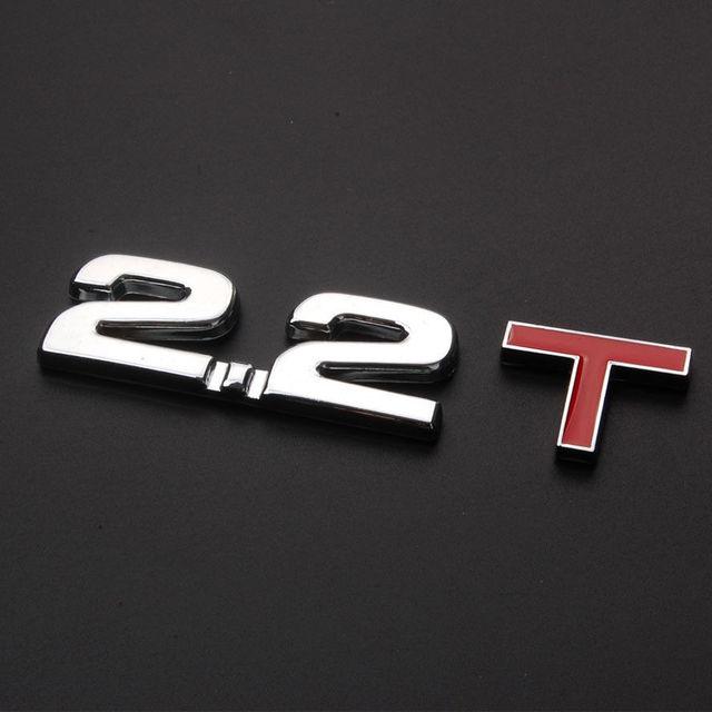 Bbq A Auto 2 2t Turbo Engine Rear Trunk Emblem Badge Decal Sticker Metal Car T