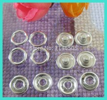 100set About 9.5mm prong metal snap button silver plated buttons garment accessory baby romper buckle scrapbooking products