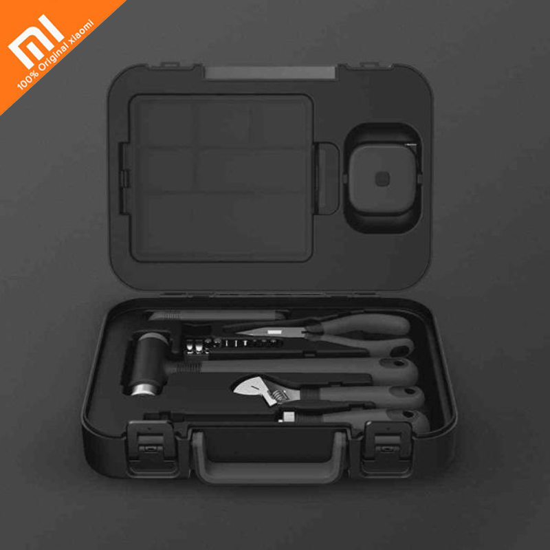 Original xiaomi mijia riz boîte à outils 6 plus 2 pour boîte à outils à l'intérieur des pièces boîte de rangement maison intelligente boîte à outils