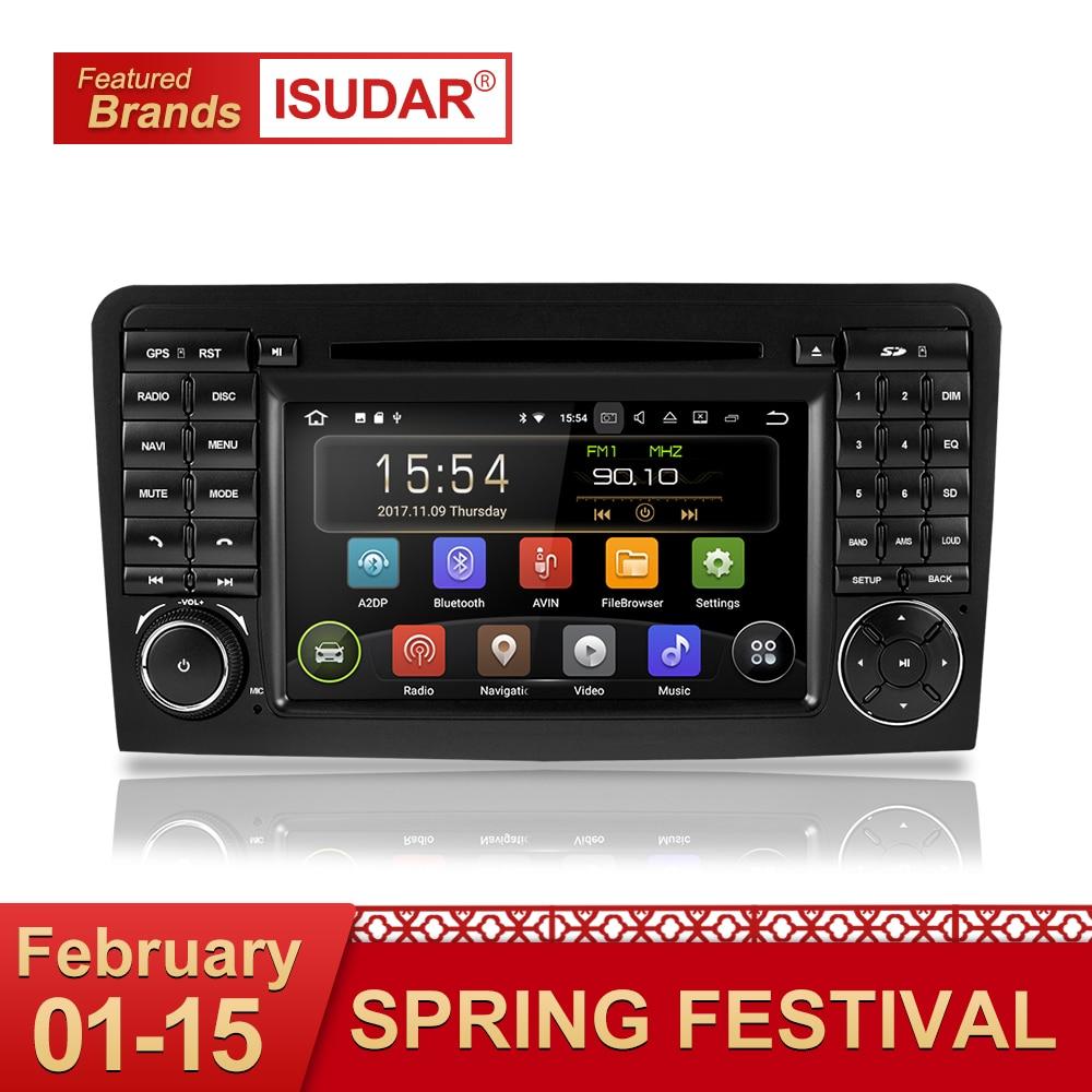 Isudar Car Multimedia Player GPS Due Din Android 8.1 Automotivo Per Mercedes/Benz/GL ML CLASSE W164 ML350 ML450 ML500 GL320 Radio