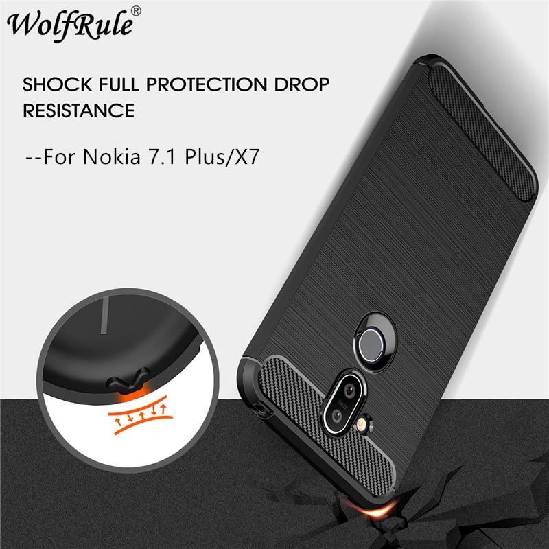 For Cover Nokia 8.1 Case For Nokia X7 Protective Case Bumper Carbon Fiber Case For Nokia 8.1 2018 Cover For Nokia 8.1 6.18
