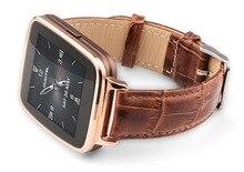 "Wasserdichte Leder Smartwatch 1,54 ""Touchscreen Bluetooth 4,0 Schrittzähler Sitz PSG RC Kamera BT Musik-player Smart Uhr"