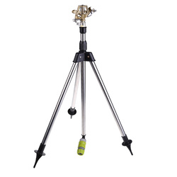 Stainless Steel Tripod Impact Sprinkler Garden Watering System Kits for Farmland Lawn Plants Flower Irrigation Sprinkler