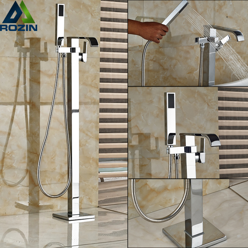 Best Quality Bathroom Floor Standing Bath tub Mixer Tap Faucet Single Handle Freestanding Bathtub Filler with