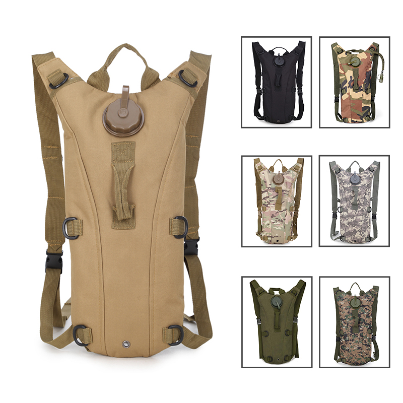 3L Water Bag, Molle Military Tactical Hydration Backpack, Outdoor Camping Camelback, Nylon Camel Water Bladder Bag For Cycling
