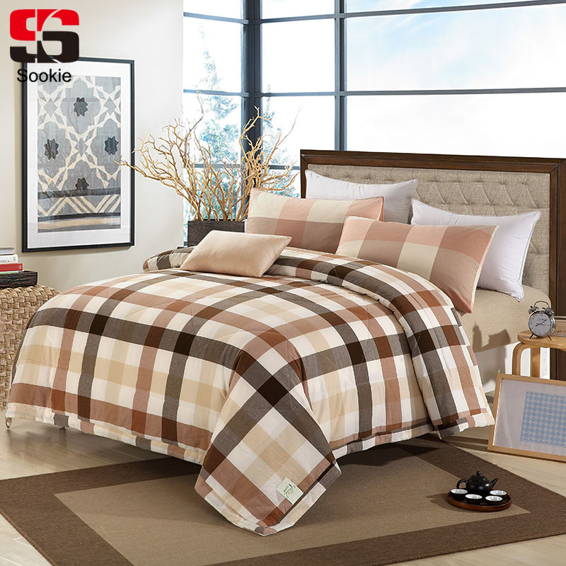 Sookie Summer 100% Cotton Quilted Bedspread Plaid Print Air ... : thin quilted bedspreads - Adamdwight.com