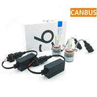 Canbus ERROR FREE H4 LED Headlight Kit H7 12V DC high power led headlamp H8 H11 bulbs 72W 7600LM H3 HB3 HB4 9007
