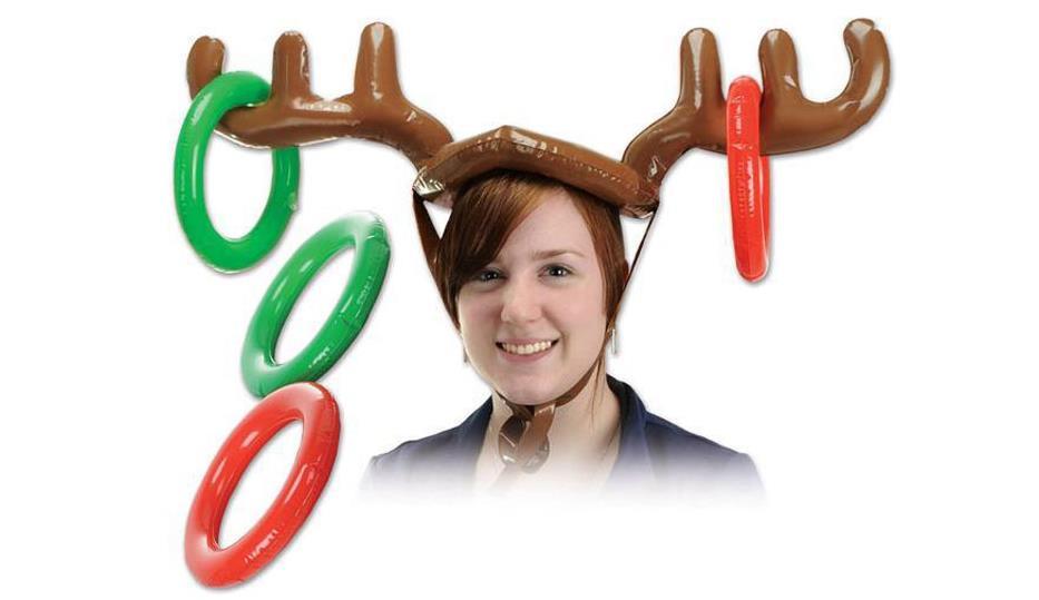 unids inflables nios juguetes lanzamiento del juego divertido juguete de navidad del reno de