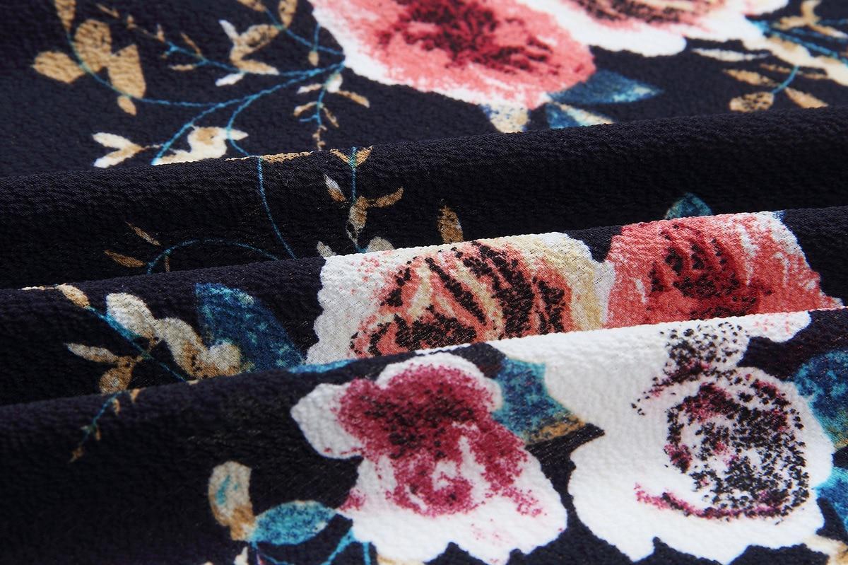 HTB1CurmEbGYBuNjy0Foq6AiBFXaH Women Plus Size Loose Casual Basic Jackets Female 2018 Autumn Long Flare Sleeve Floral Print Outwear Coat Open Stitch Clothing