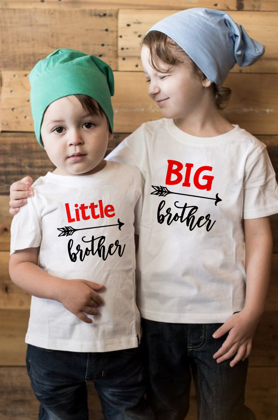 1pcs Big/Little Brother Family Matching Clothes Kids Short Sleeve Casual T-shirt Tops Outfits Baby Boy Tees Shirts Clothes