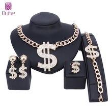 Ювелирные наборы в долларах США ожерелье браслет серьги кольцо
