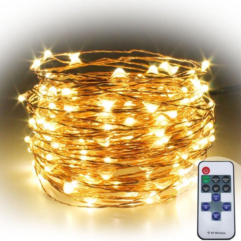 5x 99ft / 30m varm vit koppar tråd firefly LED stjärnfärdiga - Festlig belysning - Foto 3