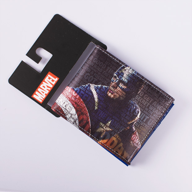 Comics DC Marvel Wallets Purse Captain America Anime Bag Leather Carteira Feminina Masculina Cartoon Billeteras Wallet comics dc marvel dollar price wallets men women super hero anime purse creative gift fashion leather bags carteira masculina