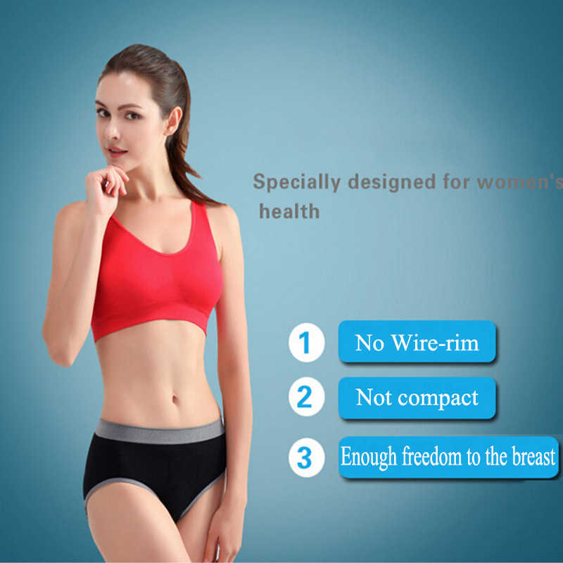 271495ec52 ... Womens Sport Bra Fitness Yoga Running Vest Underwear Padded Crop Tops  Underwear 7 Colors No Wire ...