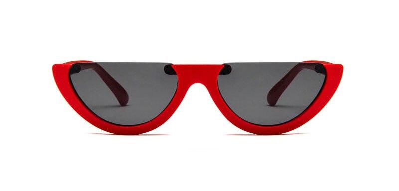 be39cfd34beec Sunglasses Cool Trendy Half Frame Rimless Cat Eye Sunglasses Women 2018 Fashion  Clear Brand Designer Sun glasses For Female