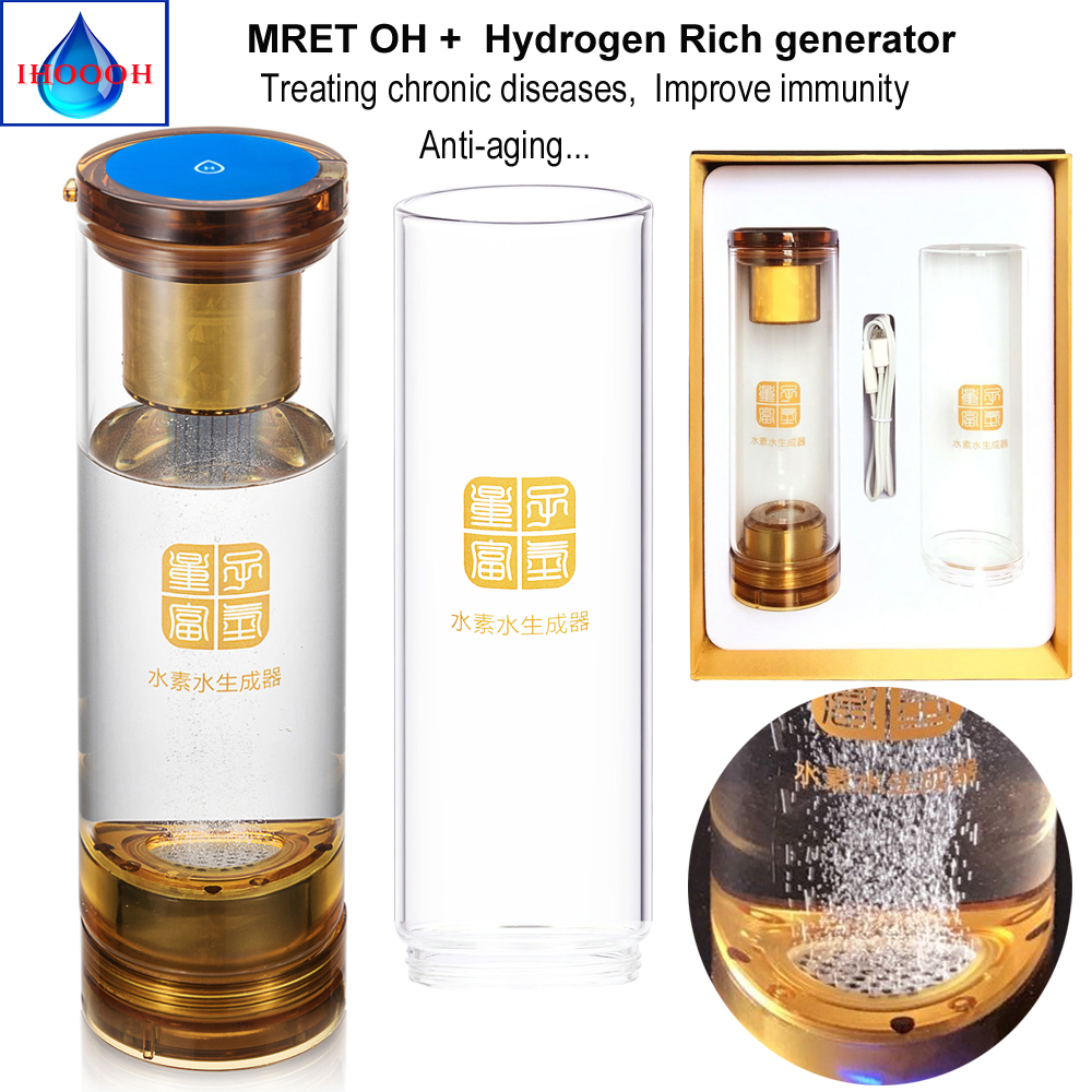 Helping treat chronic diseases Improve immunity Molecular Resonance Effect Technology and Hydrogen generator H2 water cup