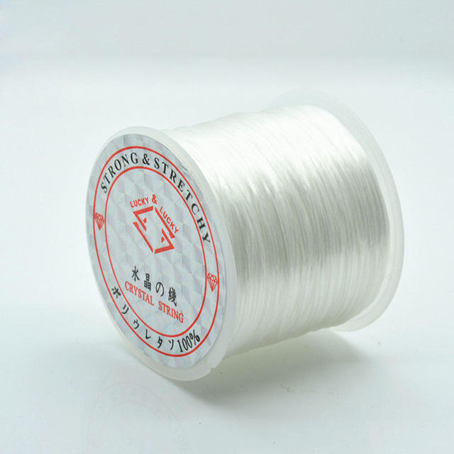 60m Roll Strong Stretchy Elastic Crystal String Beading Cord Wire Thread Rope For Diy Bracelets