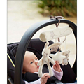 Rabbit baby music hanging bed safety seat plush toy Hand Bell Multifunctional  Stroller Accessories Gift For Kids